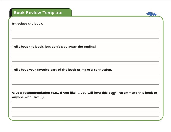 Book Review Template (PDF)