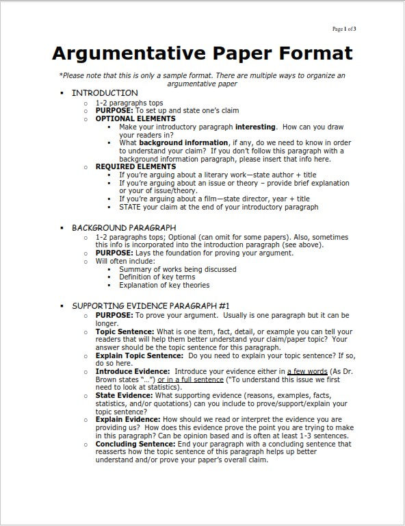 essay format & structure