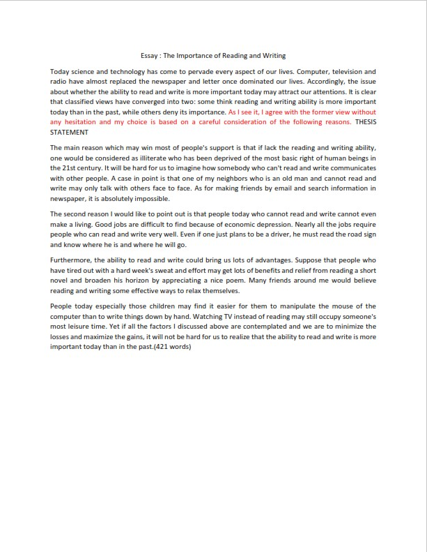How to Write a Persuasive Essay Introduction - Sample  (PDF)