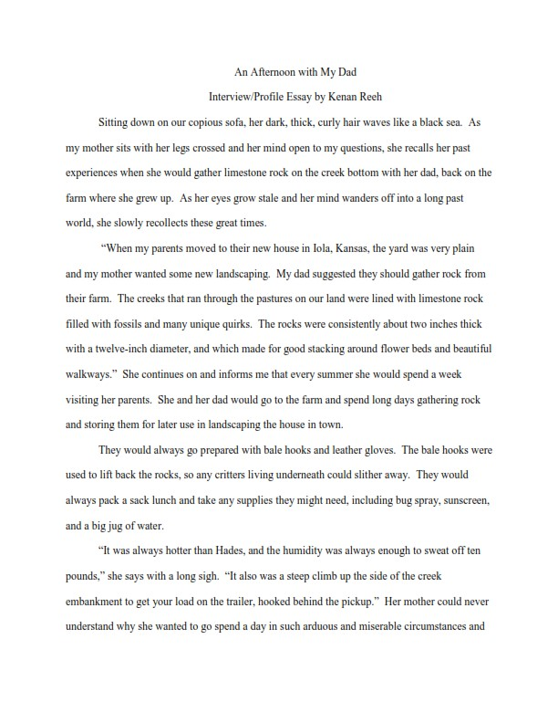 How to Write an Interview Essay Introduction - Sample  (PDF)
