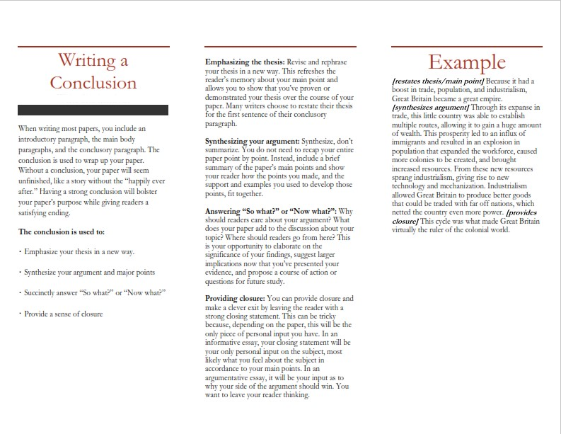 How to Write a Conclusion for a Persuasive Essay - Sample  (PDF)