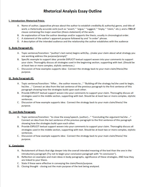 How to Write a Conclusion for a Rhetorical Analysis - Sample  (PDF)